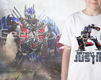 Optimus Prime Transformer Birthday Shirt/Transformers Family Shirts/Transformers Custom Shirts/Transformers Shirt/