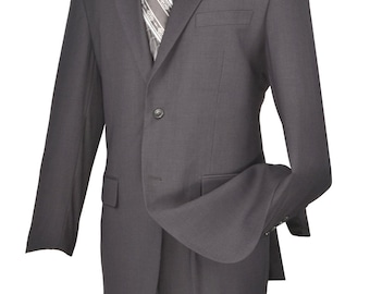 Gray suit classic-fit men's suit 2 bottons solid new with tag