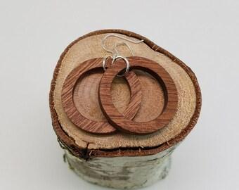 Shimmer Hardwood Hoop Wood Earrings