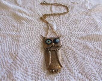 Vintage Owl Necklace/Vintage Owl Pendant/Whimsical Owl Jewelry/Owl Jewelry/Vintage Owl Jewelry/Boho Owls - FREE SHIPPING!!!