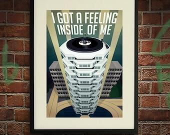 I Got A Feeling Inside Of Me - A2 Poster Print