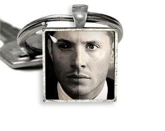 Dean Winchester Square Keychain Supernatural Keyfob Supernatural Fandom
