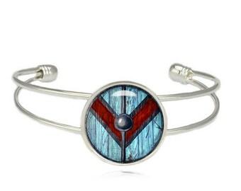 Vikings Queen Lagertha Shield Cuff Bangle Bracelet Astrid Kattegat Norse Fandom Jewelry  Fangirl Fanboy