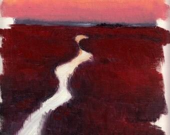 Marshland Sunset 02 - Landscape Study
