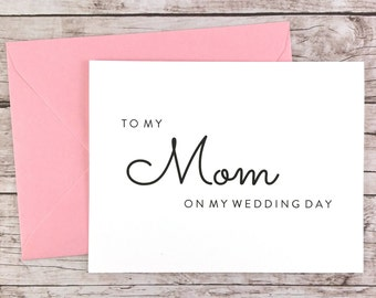 To My Mom On My Wedding Day Card, Mom Card, Wedding Day Card, Mother of the Bride, Mother of the Bride Gift  - (FPS0016)