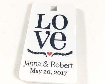 Love Tags, Wedding Favors, Thank You Tags, Baby Shower Favors, Wedding Thank You, Shower Thank You, Gift Tag, Thank You Favor, Set of 12