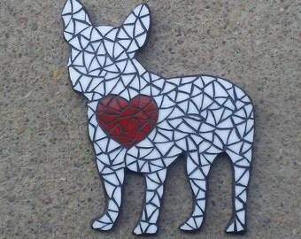 Glass Mosaic Wall Art, French Bulldog