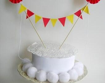 Cake topper, banner.