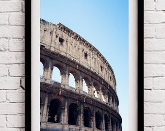 Landmark Colosseum Prints, Rome Italy Wall Decor, Moving Gift, Gap Year, First Anniversary, Large Wall Photo, Oversized Artwork, Wall Art