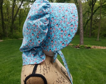 Custom Pioneer Trek Cultural Celebration Clothing: Pioneer Bonnets, Costume Bonnet, Trek Bonnet, Pilgrim Bonnet, Laura Ingalls, Sunbonnet