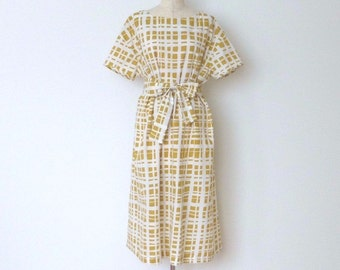 Oversized rippled-cotton dress