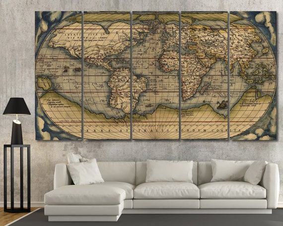 Large Vintage Map Of The World.15 Off Coupon On Large Vintage Wall Art Old World Map Antique