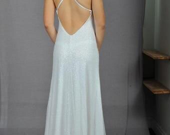 Sequin Dress, Boho Wedding Dress, Bridal Dress, White Wedding Dress, Sequin Wedding Dress, Beach Wedding Dress, Bohemian Wedding Dress, Gown