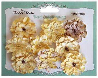 Boutique Paper Flowers - Vintage Blooms Lemon