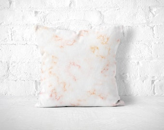 Pink Marble Pillow, Pink White Pillow, Marble Pillow Case, Marble Cushion, Marble Throw Pillow, Neutral Throw Pillow, Modern Throw Pillow