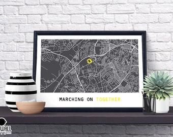 Leeds  Football Poster, Football Poster, Football Print, gift, Map Print