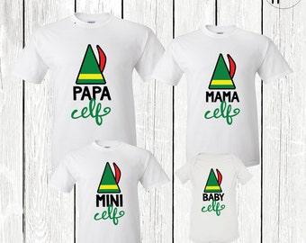 Christmas Outfits, Matching Family Shirts, Family Elf Shirts, Mama Elf, Papa Elf