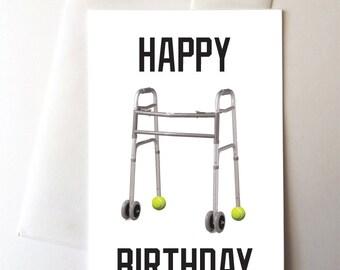 Funny Walker Birthday Card