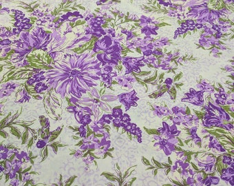 Glorious Garden-In Full Bloom-Purple Cotton Fabric from Free Spirit