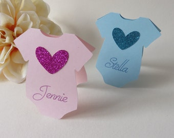 Baby Shower Place Cards, Personalized Place Cards, Onesie Place Cards, Custom Place Cards, Baby Shower, Neutral Baby Shower, Onesie,