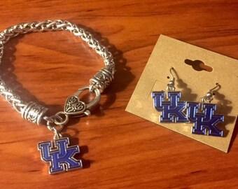 University of KY Bracelet & Earrings