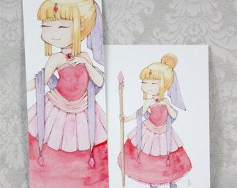 Postcard & Bookmark Queen of Diamonds
