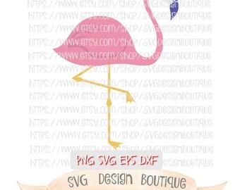 Pink Flamingo Svg, Pink Flamingo Clipart, Cute Svg, Svg Flamingo, Flamingo Cut File, Silhouette Cameo, Cricut Design Space, Svg Design, DXF