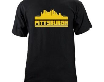 Original Pittsburgh Pennsylvania Skyline Team Colors T-Shirt
