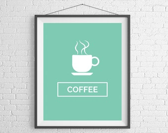 Coffee Quote Print, Coffee Sign, Coffee Prints, Coffee Art, Coffee Wall Art, Coffee Gift, Kitchen Art, Coffee Lovers Gift, Quote Art, Saying