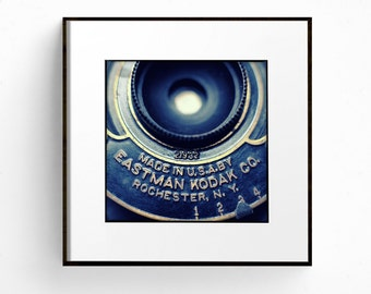 Vintage Camera Print, Square Print, Fine Art Photograph, Retro Decor, Man Cave, Antique Camera Print, Abstract Print, Classic Camera Art