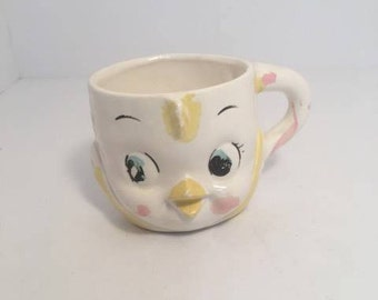 Child's Bird Face Cup ~ Vintage Child's Cups ~  Made in Japan