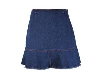 Frayed denim skirt | Etsy