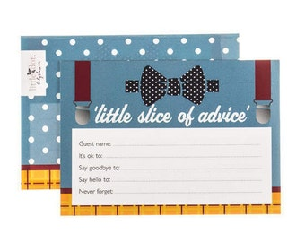 Baby Advice Cards, Fantastic Mr Baby theme, baby shower game, baby shower advice card, set of 10 cards, baby boy, blue cards