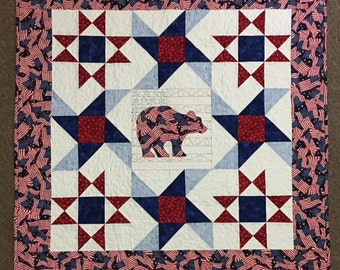 Quilted Patriotic Wall Hanging