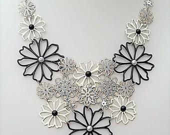 """Enamel """"Lace"""" Necklace. Wedding. Bride. Bridal. Fashion. Style"""