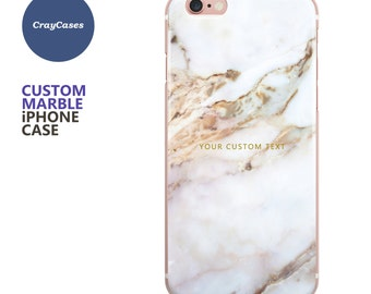 personalised marble iPhone 7 case, marble iPhone 6 case, Custom Name Marble iPhone Case, 6s, 6s Plus, 7 Plus, custom cover (Shipped From UK)