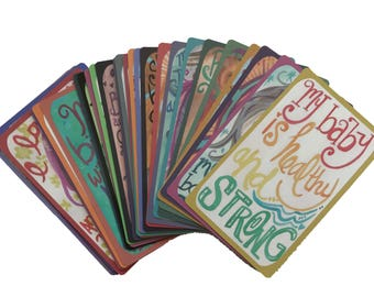 WHOLESALE- 20 Decks of Affirmation Cards -10 Pregnancy & 10 Mothering  by The Renegade Mama