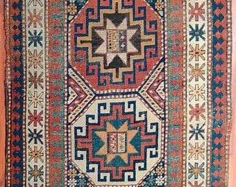 "Antique Kazak rug. 3'1""x 8'2"""