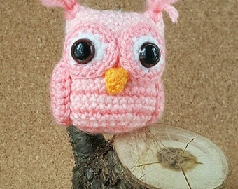 Crochet Owl Keychain Amigurumi Owl Keyring Miniature Crochet Owl Handbag Charm