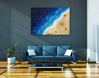 Abstract Painting, Large canvas Painting, Beach Painting, Ocean painting, Wall art, Sea painting, contemporary decor, beach decor, Painting