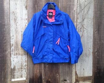 Vintage Columbia Sportswear Rain Jacket | Columbia Winter Jacket | 90s Pink Jacket | 90s Columbia Sportswear Jacket