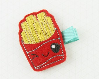 Fries Hair Clip | French Fries Hair Accessory | Junk Food Hair Clip | Fast Food Hair Clip | Kawaii Hair Accessory | Cute Clippie