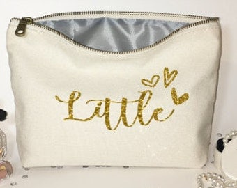 Sorority Makeup bag  -Big little Sorority bags - Personalized Sorority gifts-  cosmetic bag- Big little reveal - Bags and Purses