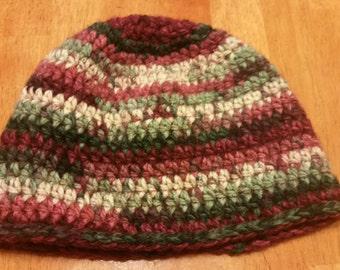 Thick crochet beanie