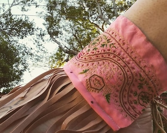 Pink Ankle Cuffs