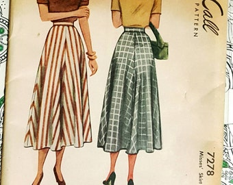 "1948 McCall Misses Skirt Size 28"" Uncut FF Sewing Pattern ReTrO 40s!"