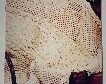 1974 Coats and Clark's Book 238 Afghans Naturally Knitting and Crochet Pattern Booklet New!