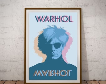 Andy Warhol illustration Print