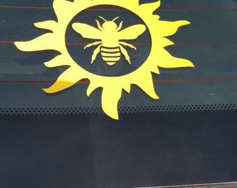 Sun Bee Vinyl Decal
