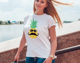 Pineapple In Disguise Women's T-shirt -  Funny Pineapple Shirt - Hawaiian T-shirt for Her - Tropical Island Shirt